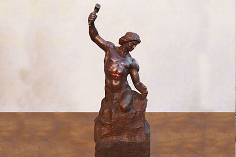 Casting Bronze Sculptures self made man statue sculpture prices
