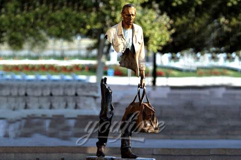 Famous Bruno Catalano Bronze Traveler Sculpture for Sale