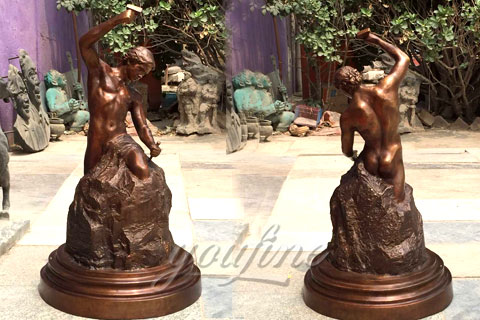Hot Sale Casting Bronze Self Made Man Statue for Sale