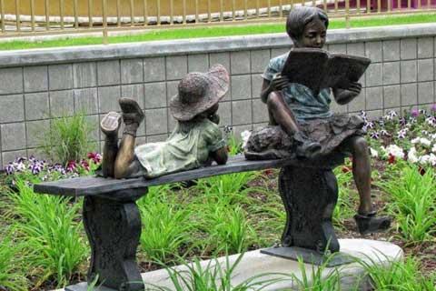 Life Size Wholesale Garden & Yard Decoration Antique Bronze Kids Statue Metal for sale
