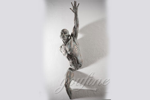 Life size body sculpture wall art matteo pugliese for home decor for sale