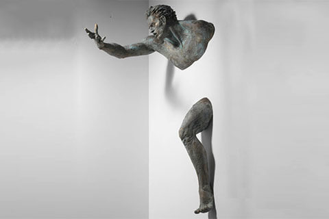 Life Size Bronze Matteo Pugliese Sculpture Wall Statue for Indoor Decor BOKK-103
