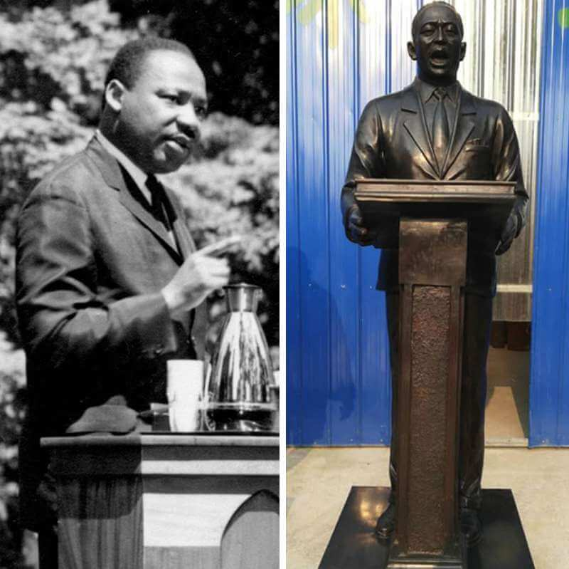 Life Size Custom Bronze Martin Luther King sculpture for Sale