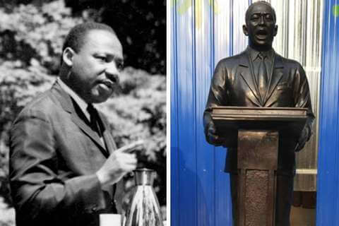 Life Size Custom Made Bronze Martin Luther King Statue for Sale