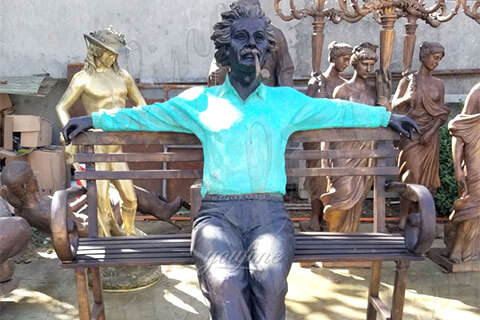 Life-Size-Customized-Made-Famous-Figure-Bronze-Einstein-Statue-Sitting-on-the-Chair-for-Sale