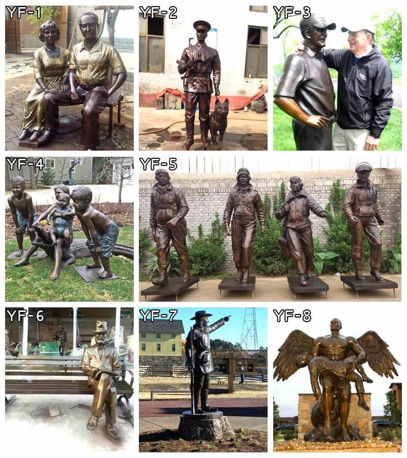 Custom Made Bronze Football Man Sculpture