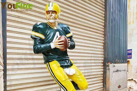 Life Size Custom Made Bronze Football Man Sculpture for Sale BOKK-773