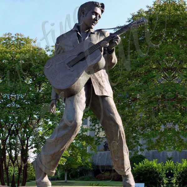 Life Size Custom Made Famous Bronze Elvis Presley Sculpture for Sale
