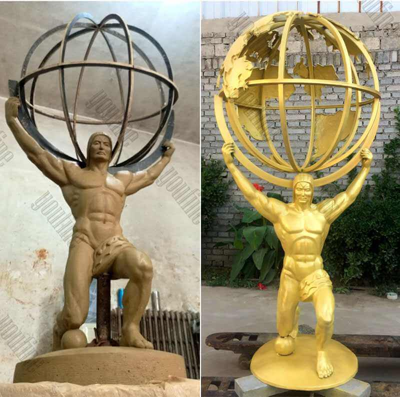 Bronze-atlas-holding-the-world-Sculpture-for-Sale