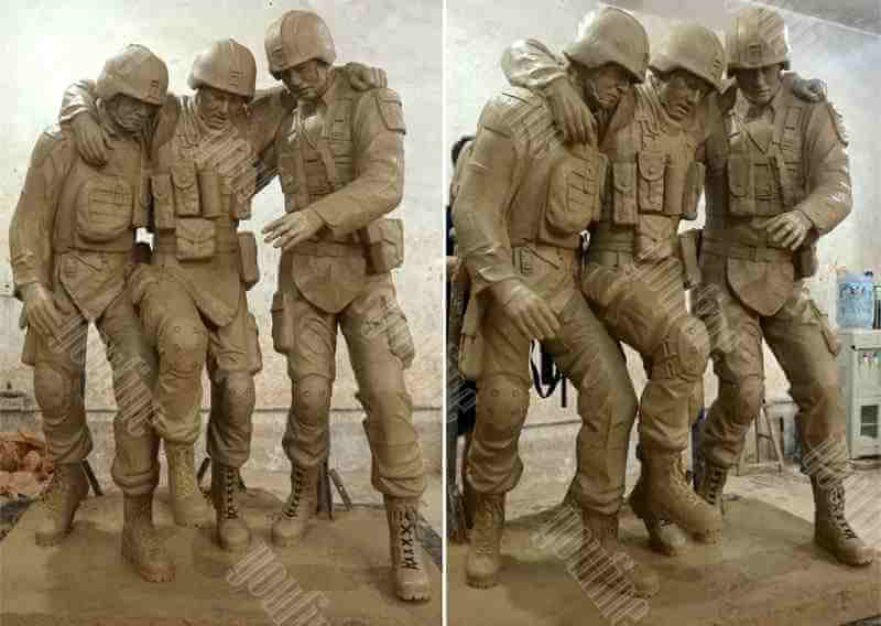 High Quality Bronze Military Soldier Statue for sale