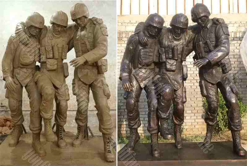 High Quality Bronze Military Soldier Statue