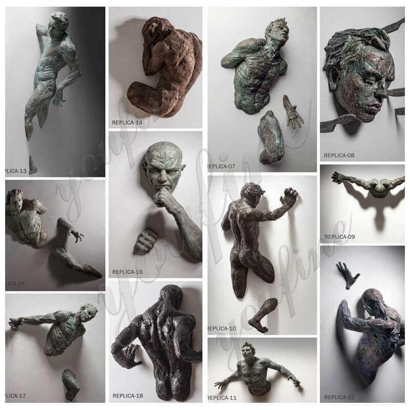 Bronze Wall Figure Sculpture
