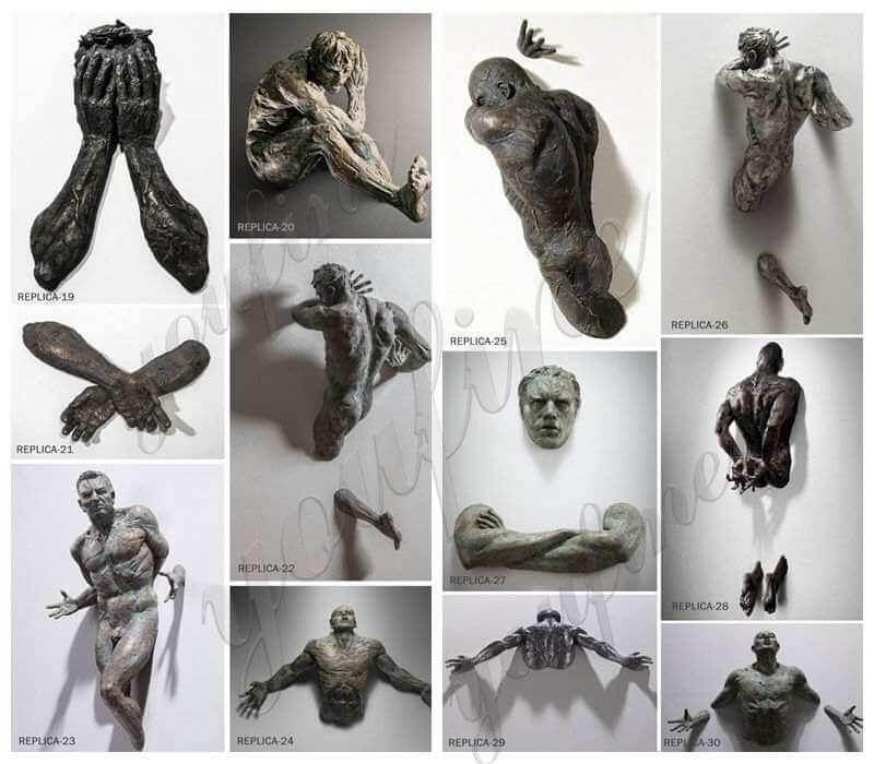 Famous Bronze Wall Figure Sculpture