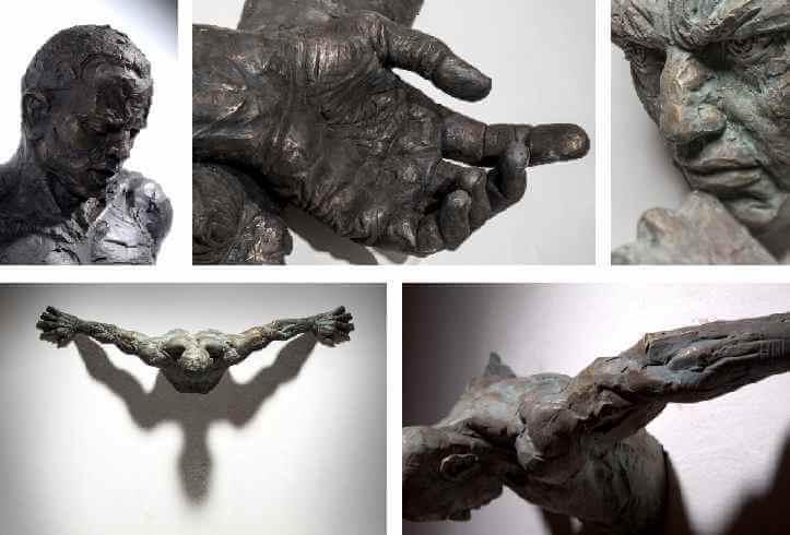 Life Size Famous Bronze Wall Figure Sculpture for Home Decor